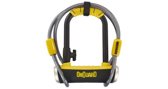 Onguard Pitbull Mini DT 8008 pyöränlukko 90x140mm , keltainen/musta